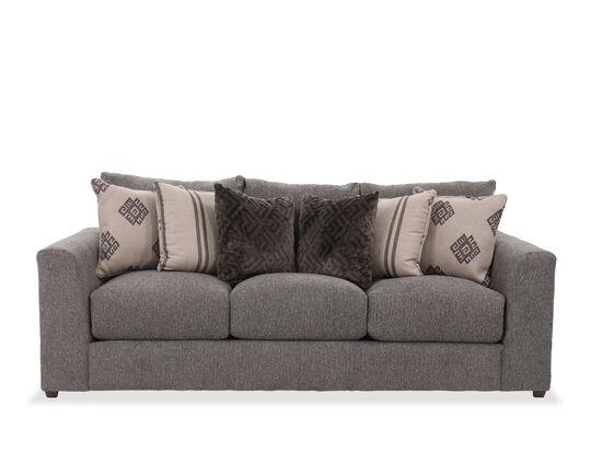 """92"""" Casual Striped Sofa in Gray"""