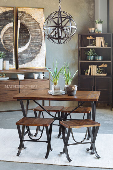 Five-Piece Contemporary Dining Set in Brown