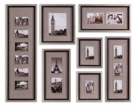 Seven-Piece Photo Frame Wall Collage Set in Oatmeal