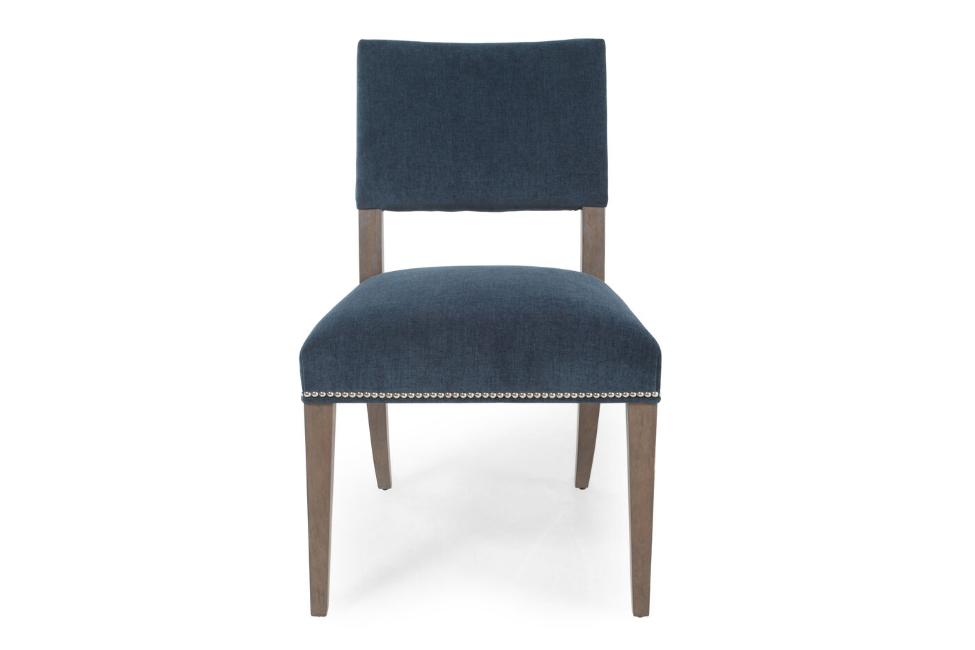 Nailhead Trim 22 Side Chair In Blue Mathis Brothers