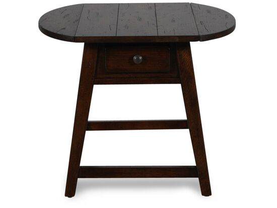 Oval Tapered Legs Country End Tablein Dark Oak