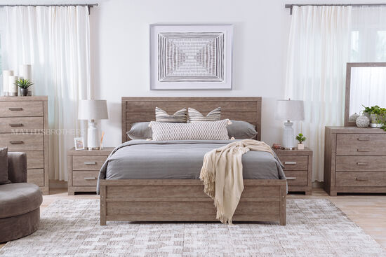 Four-Piece Casual King Bedroom Suite in Warm Gray