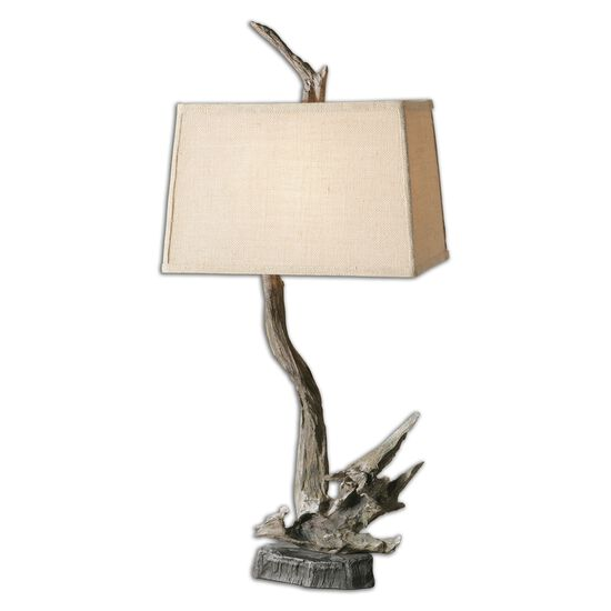 Wooden Branch-Shaped Lamp in Driftwood