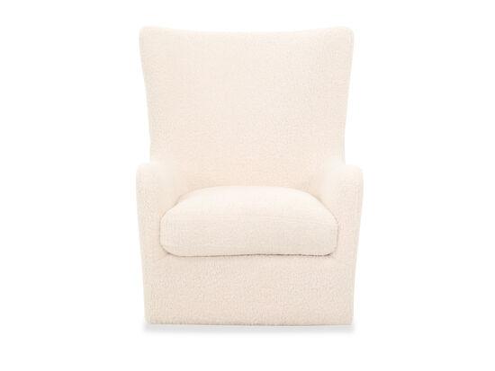 Contemporary Swivel Accent Chair in Cream