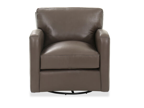 """Casual 32"""" Swivel Chair in Brown"""