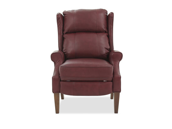 """Wingback 30.5"""" Leather Pressback Reclinerin Red"""