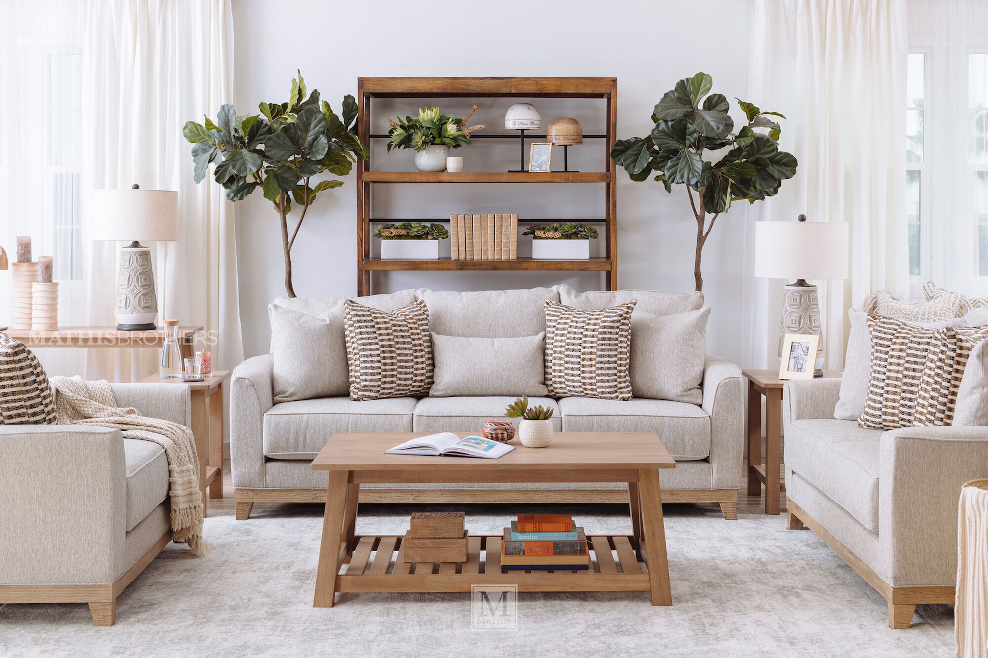 Casual Loveseat In Beige Mathis Brothers Furniture