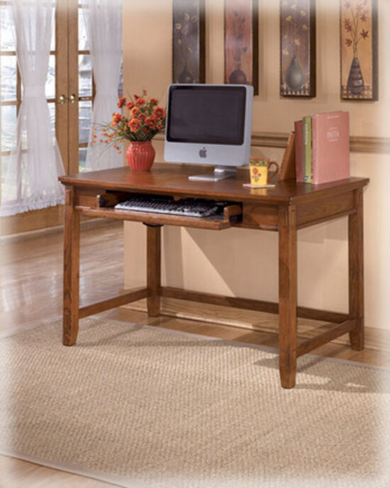 "48"" Small Casual Tapered-Leg Desk in Medium Brown Oak"