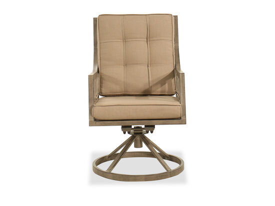 Aluminum Swivel Dining Chair in Brown