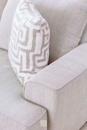 """Contemporary Textured 101"""" Sofa in Greige"""