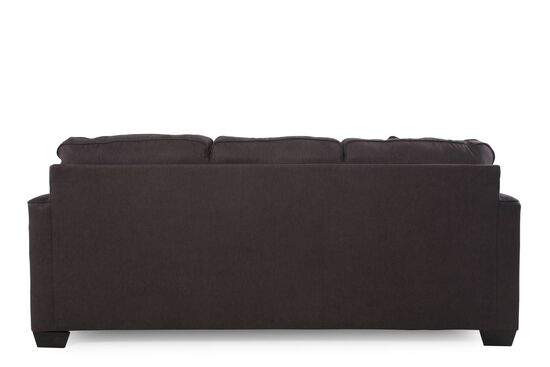"""Low-Profile Casual 84"""" Sofa in Charcoal"""
