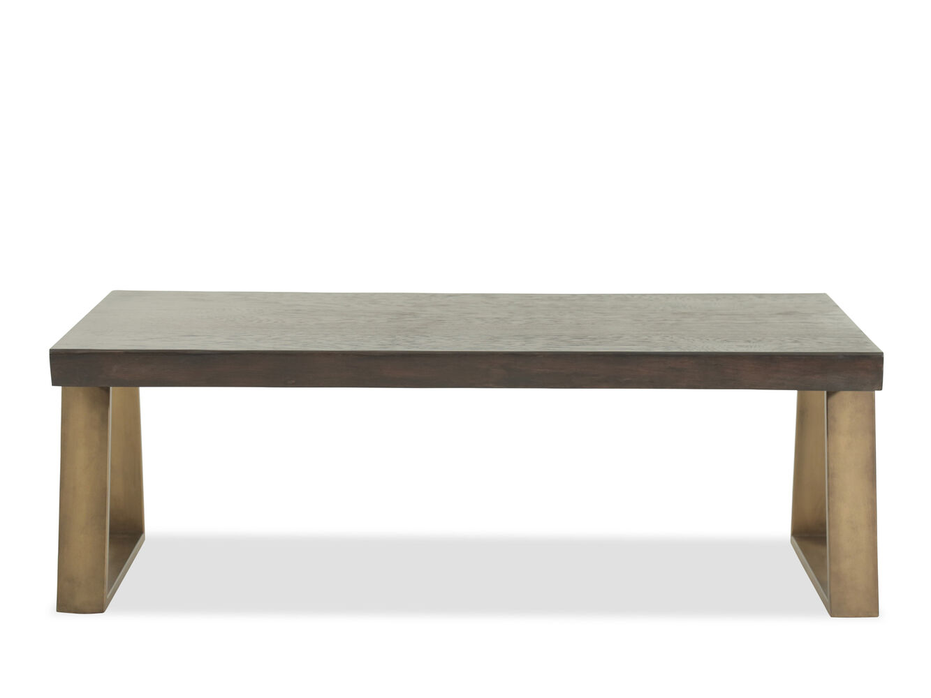 Rectangular Live Edge Mid-Century Modern Cocktail Table In