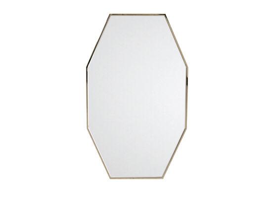 Mid-Century Modern Octagonal Mirror in Nickel