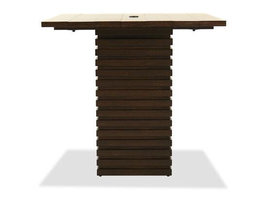 Pedestal Bar Table in Ebony