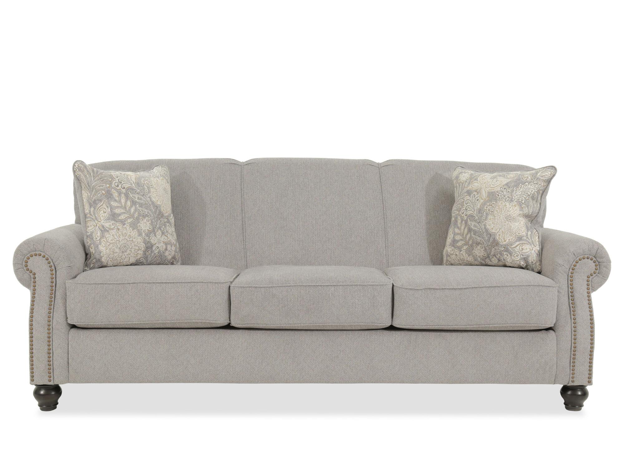 Superbe Contemporary Nailhead Accented 92u0026quot; Sofa ...