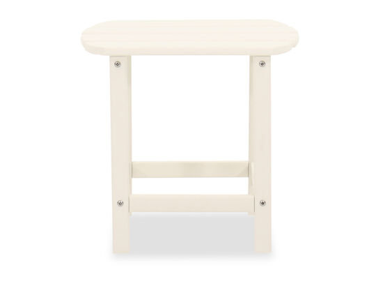 Slatted End Table in White