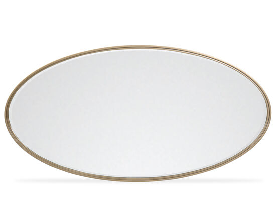 Modern Oval Mirror in Smoked Bronze