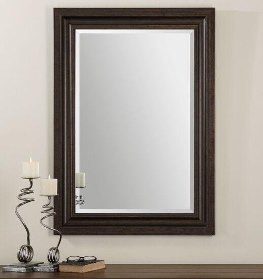 """44"""" Solid Pine Frame Mirrorin Dark Bronze"""