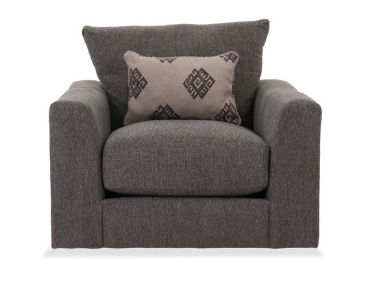 Contemporary Swivel Chair in Grey