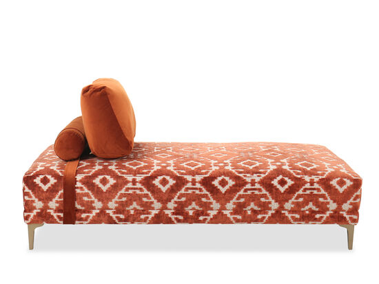 "33"" Contemporary Accent Daybed in Orange"