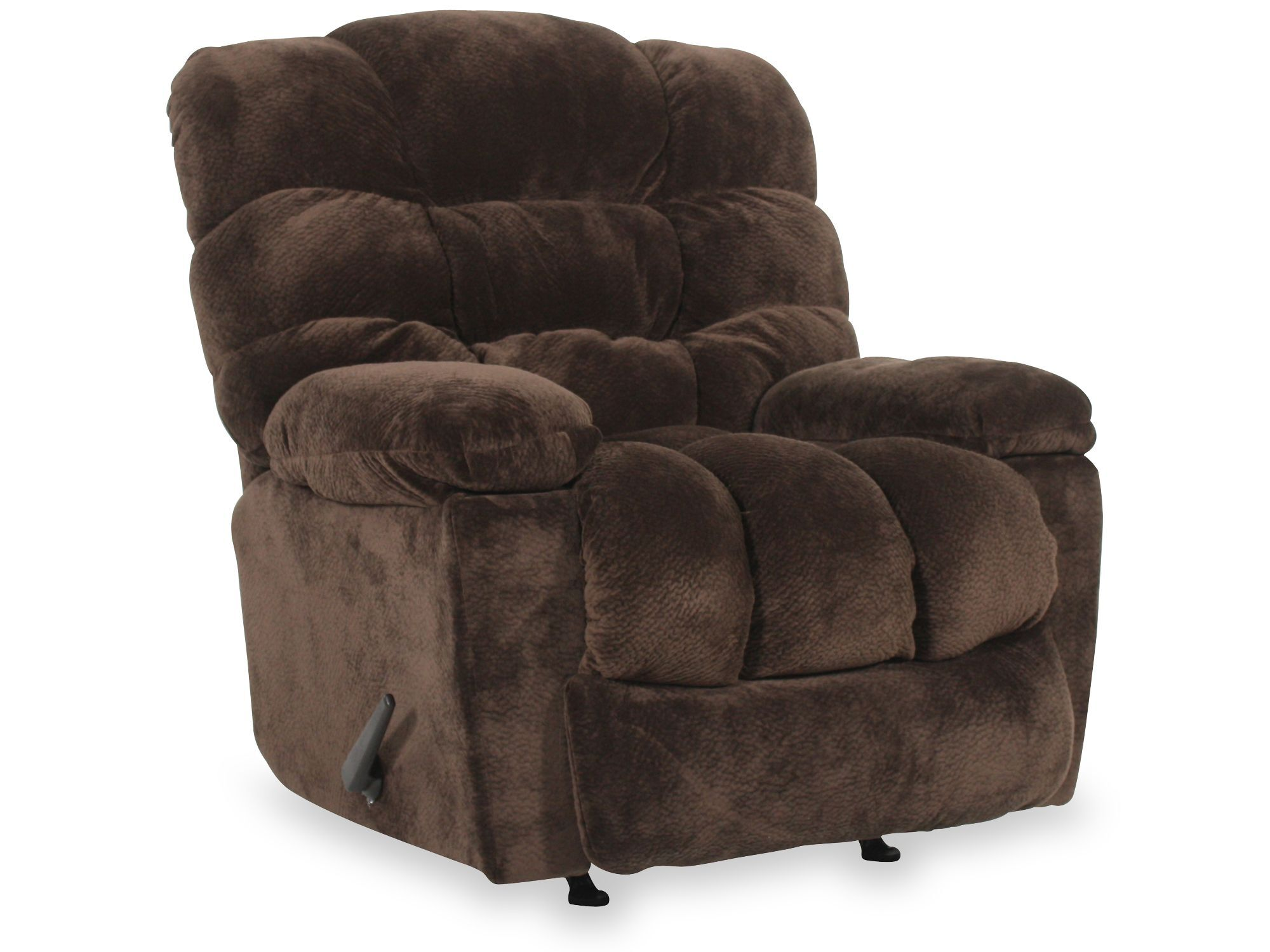 Merveilleux ... Casual 43u0026quot; Wall Saver Recliner With Storage Arm In Chocolate ...