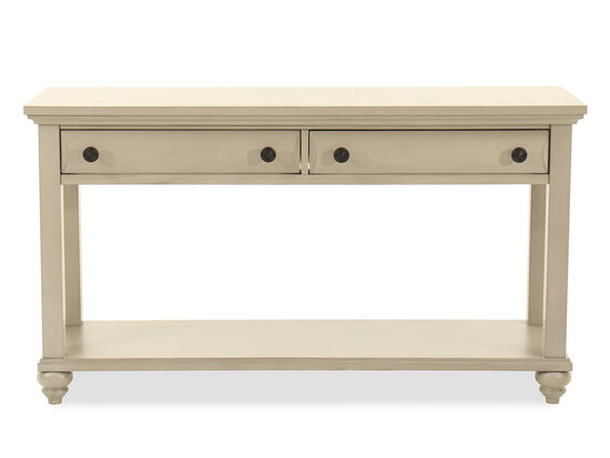 Rectangular Two-Drawer Console Table in Mineral Gray