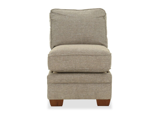 """Contemporary 24"""" Armless Chair in Stone"""