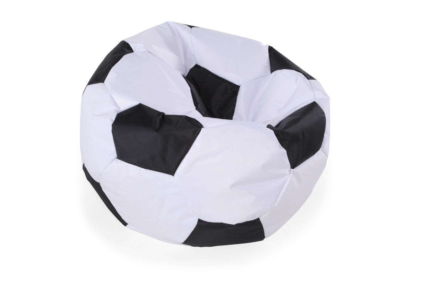 Images Casual Soccer Ball Youth Bean Bag Chair In White