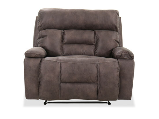 "40"" Contemporary Recliner in Dorado Walnut"