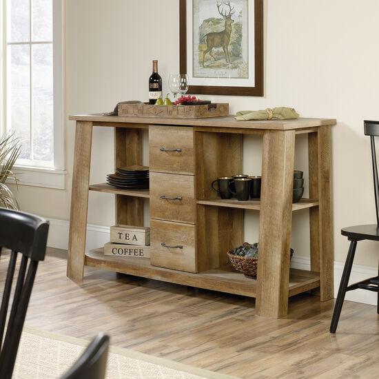 Three-Drawer Contemporary Credenzain Craftsman Oak