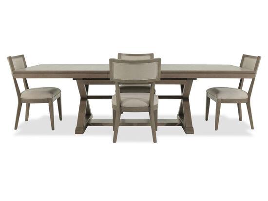 Five-Piece Modern 84'' Dining Set in Brown