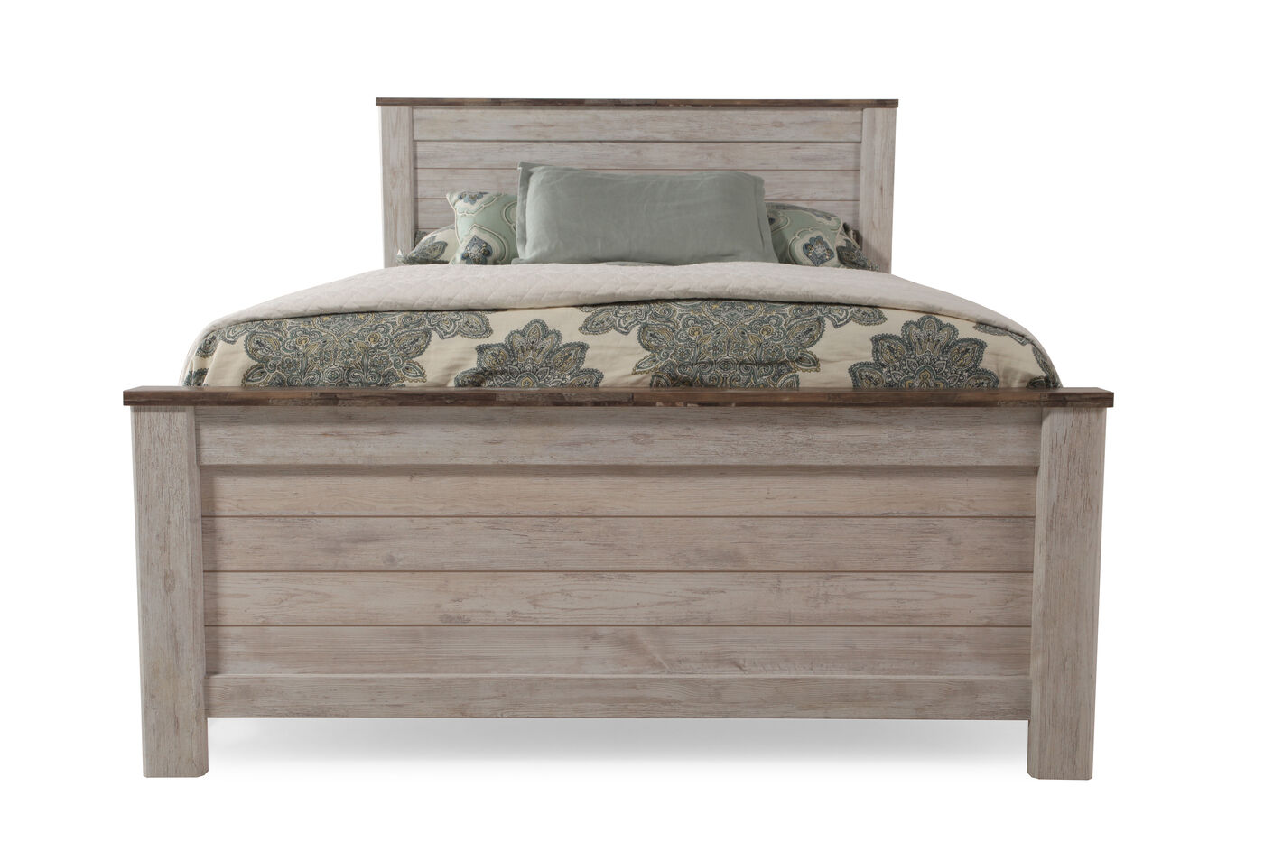 ashley willowton panel bed | mathis brothers furniture