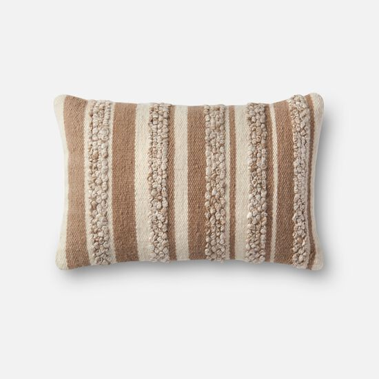 """13""""x21"""" Cover w/Down Pillow in Beige/Ivory"""