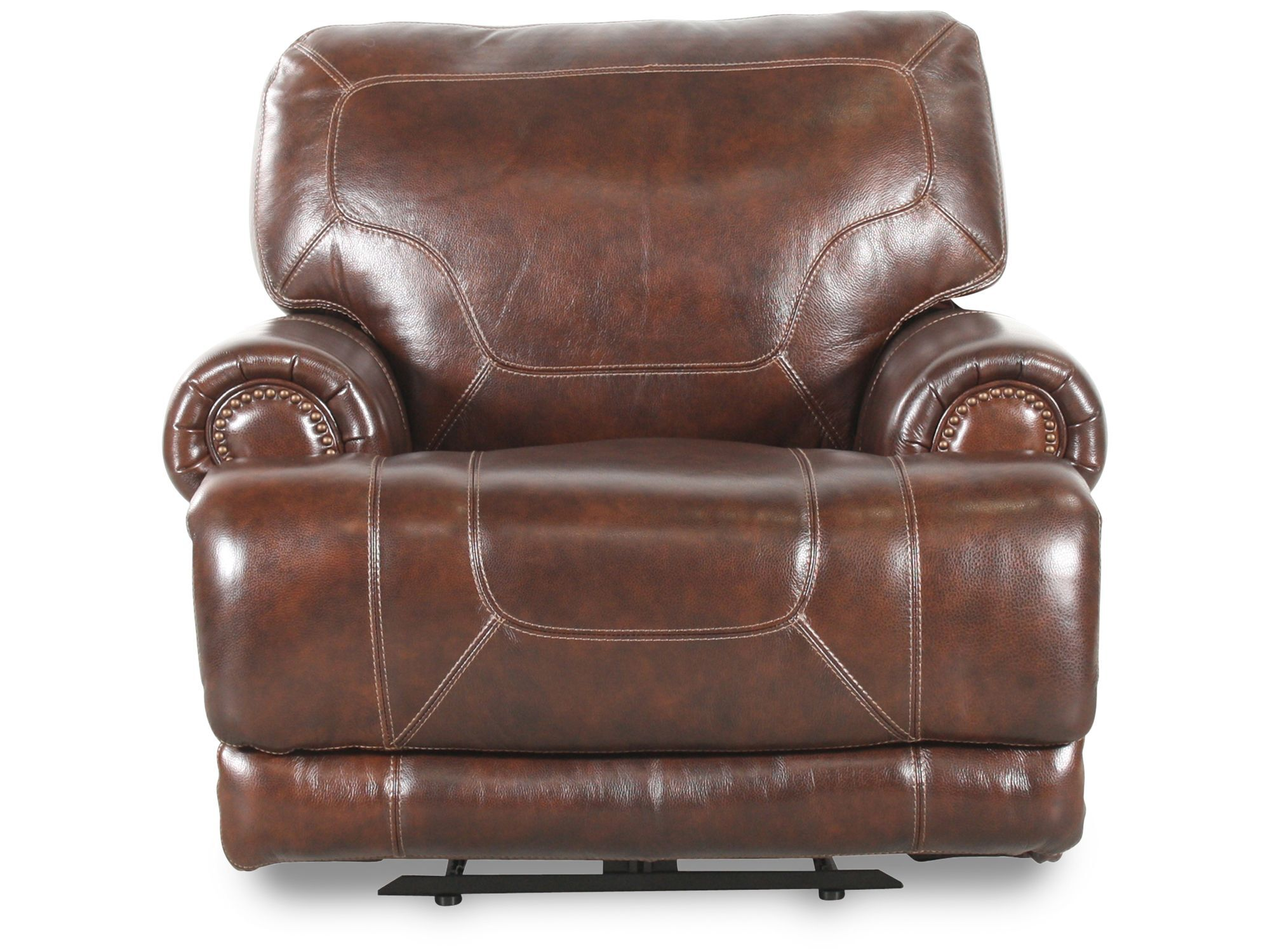 Simon Li Leather St&ede Coffee Recliner ...  sc 1 st  Mathis Brothers & Recliners - Reclining Chairs \u0026 Sofas | Mathis Brothers islam-shia.org
