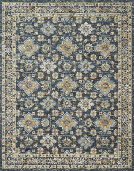 "Contemporary 5'-0""x7'-6"" Rug in Blue/Blue"