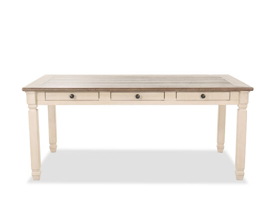 Six-Drawer Cottage 72'' Dining Table in Antique White