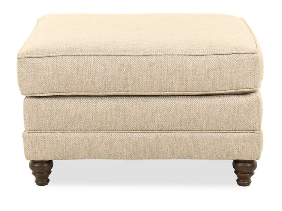 "Traditional 31.5"" Ottoman in Beige"