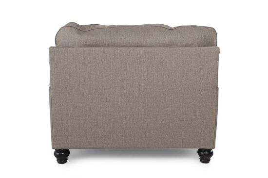 """English Arm Casual 46"""" Chair and a Half in Gray"""
