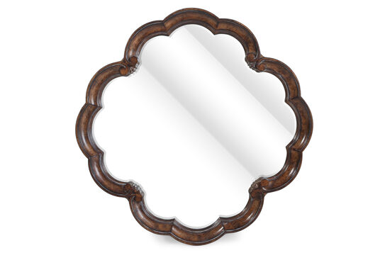 """42"""" Traditional Scalloped Accent Mirror in Vintage Melange"""
