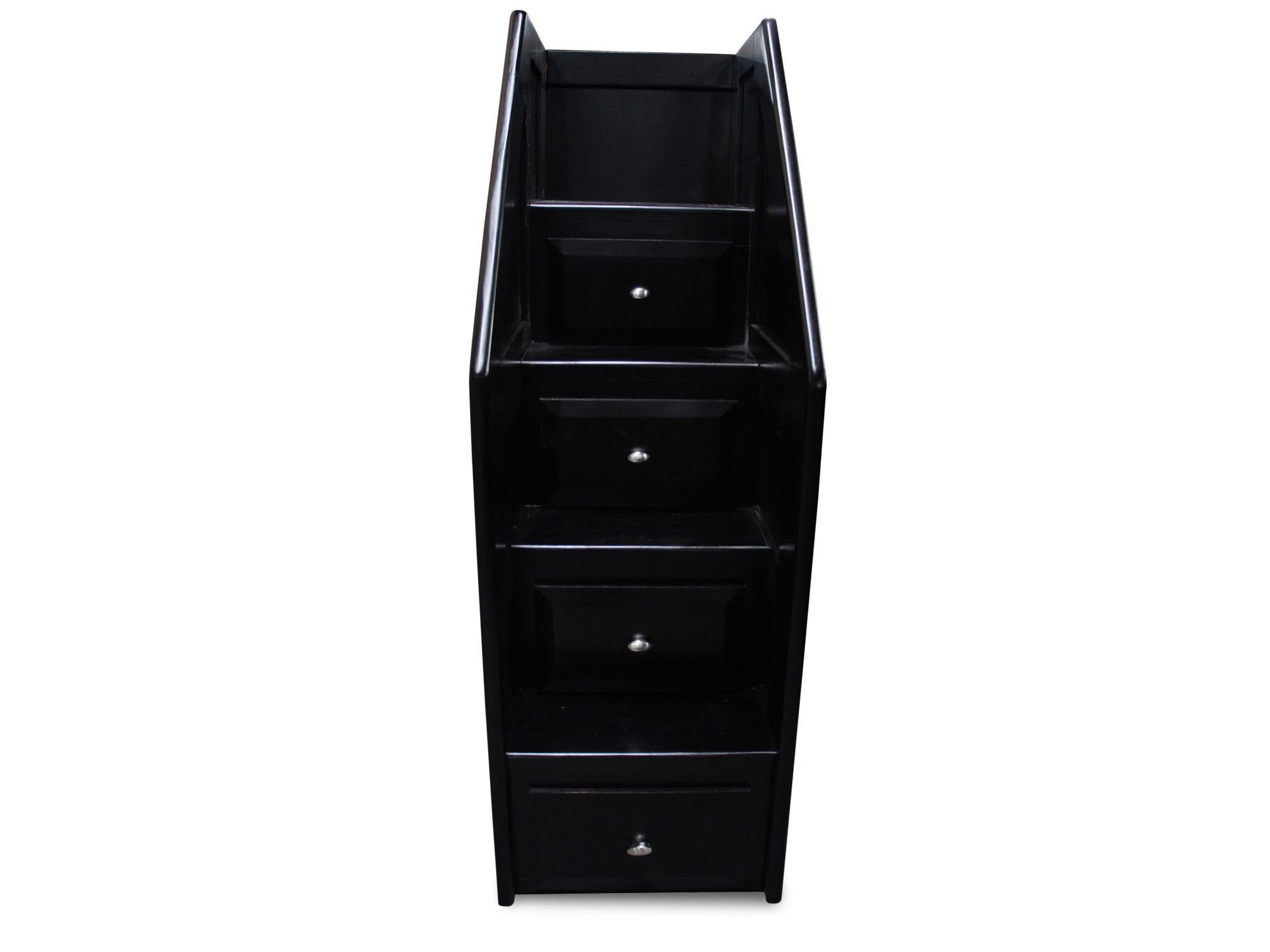 Four Drawer Transitional Stairway Chest In Black Cherry