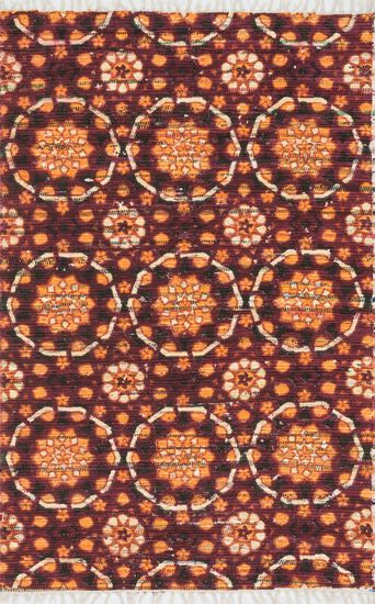 "Transitional 1'-9""x5' Rug in Spice"