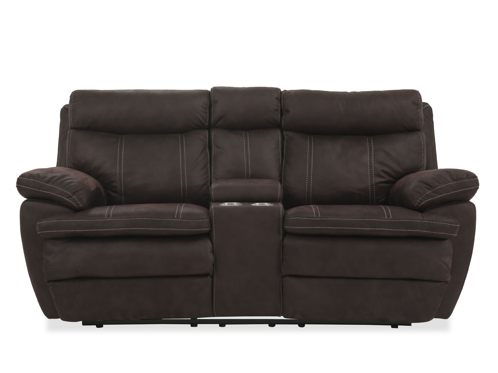 Power Reclining Microfiber 77 Quot Loveseat With Console In