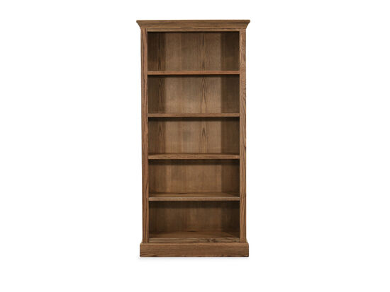 "33"" Casual Five-Shelf Bookcase in Glazed Oak"
