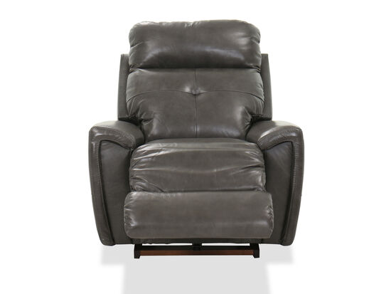 """Casual 38"""" Rocking Recliner in Charcoal"""