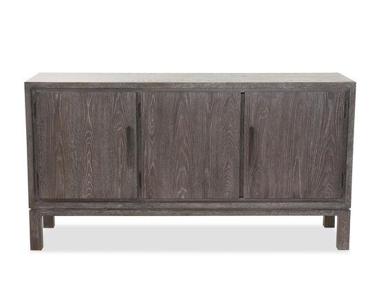 """Three-Door 64"""" Contemporary Buffet in Cerused Gray"""