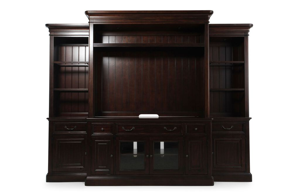 LED Lighting Traditional Wall Unit in Dark Cherry