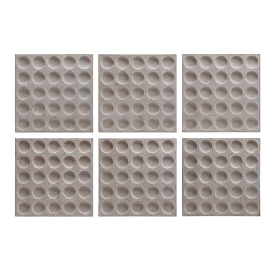 Six-Piece Concave Square Wall Art in Stone White