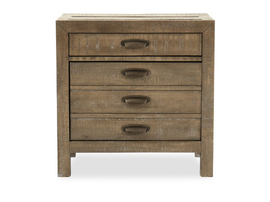 "29"" Casual Weathered Two-Drawer Nightstand in River Rock"