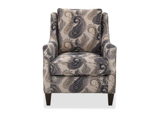 """Transitional Paisley-Patterned 32"""" Club Chair"""