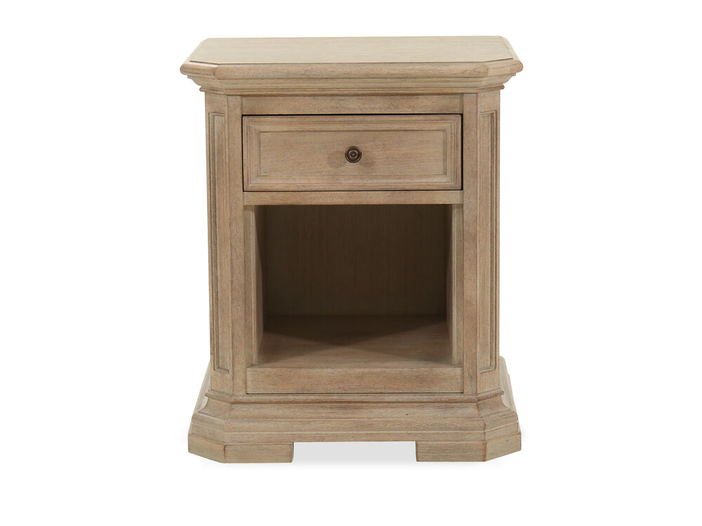 Images One Drawer Transitional Nightstand In Light Brown
